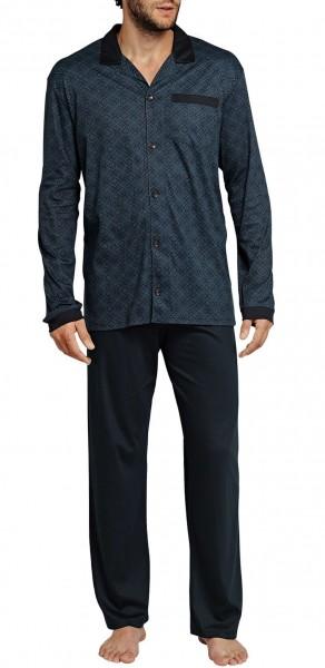 Schiesser Herren langer Pyjama Schlafanzug Lang - 155063
