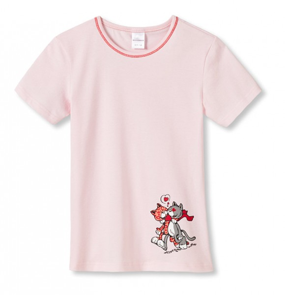 "Kinder Hemd Shirt 1/2 Arm ""Love Cats"" Schiesser 135729"