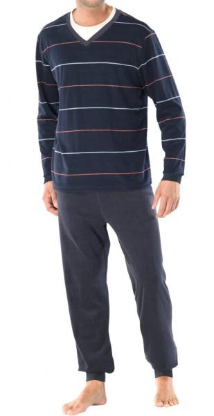 446ed18d38 Schiesser Herren Schlafanzug lang Frotte, besonders warm, aus 80 ...