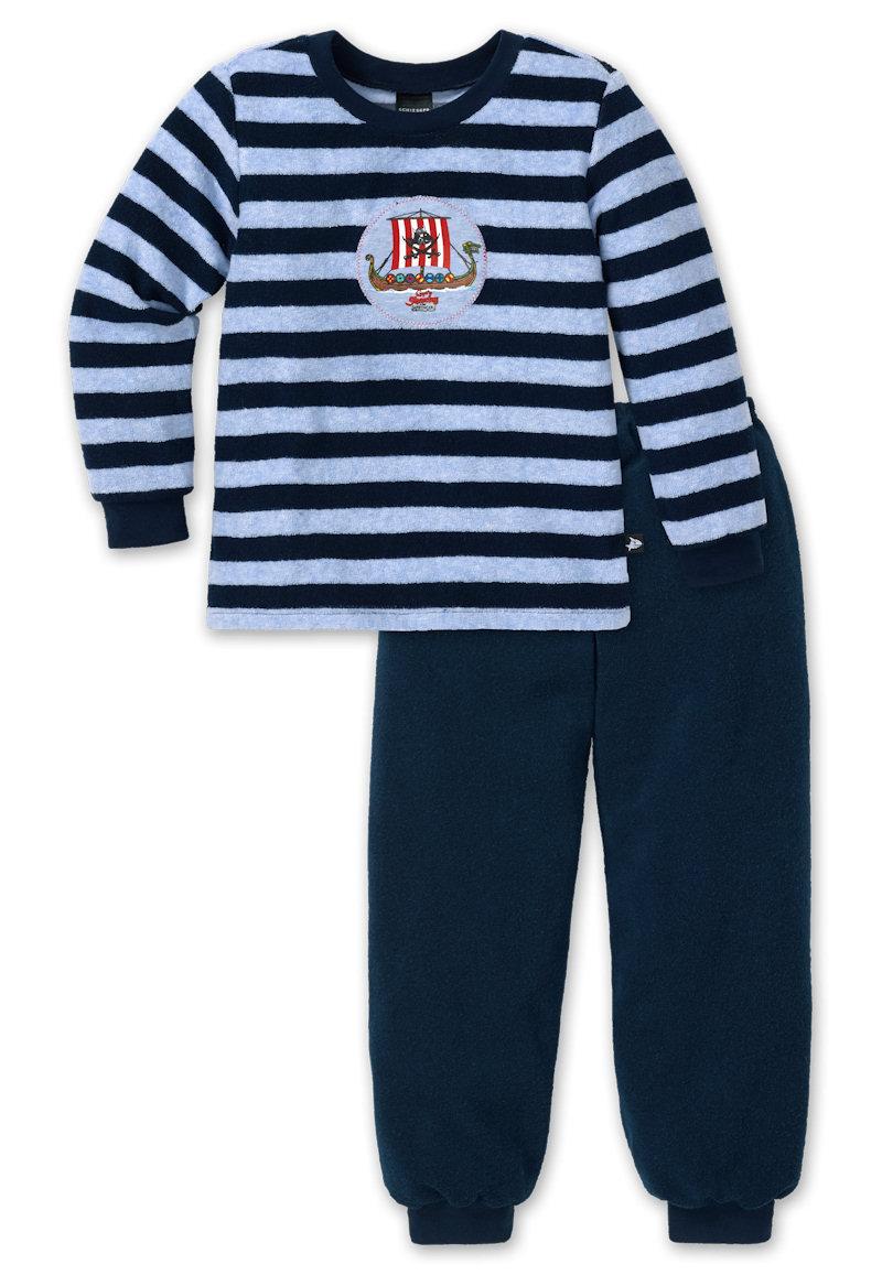 frottee schlafanzug lang capt 39 n sharky schiesser 148533 schiesser shop. Black Bedroom Furniture Sets. Home Design Ideas