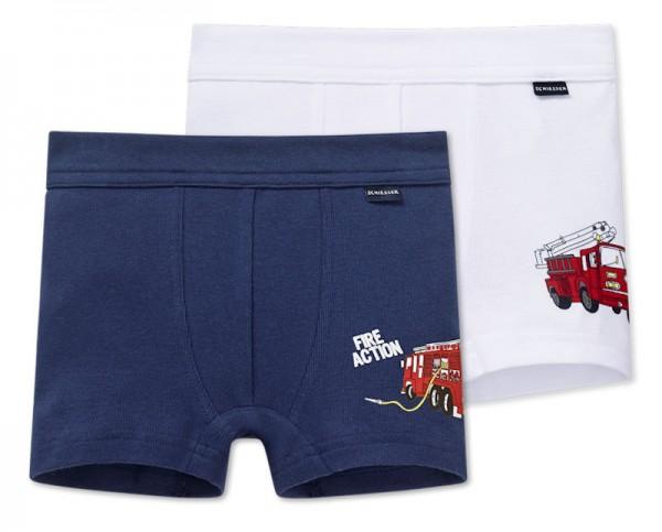 """Jungen Hip-Shorts Doppelpack """"Feuerwehr"""" Schiesser 154213"""