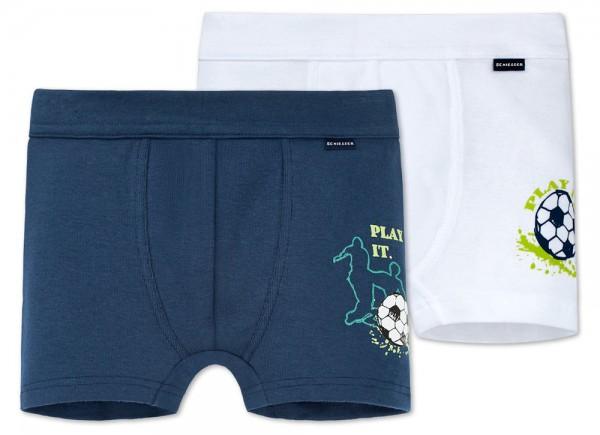 """Jungen Hip-Shorts Doppelpack """"Fussball"""" Schiesser 160494"""