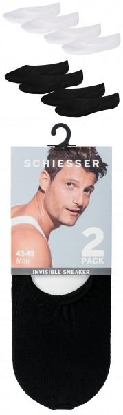 "Herren ""Invisible"" Sneaker Füsslinge 2-er Pack - neu 2017 Schiesser 156072"