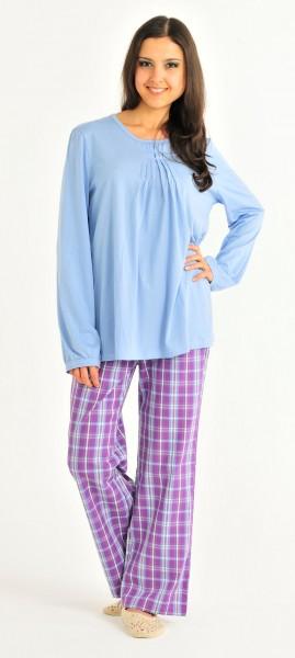 Damen Shirt Hemd Langarm 1/1 Mix und Relax Bambus Schiesser 124701