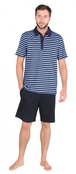 """Herren Poloshirt kurzer Arm """"Marine"""" Schiesser 129178"""