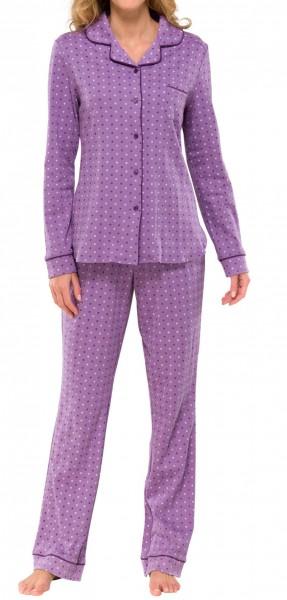 Damen Pyjama lang Interlock 50+0 Schiesser 139399
