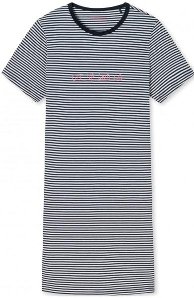 "Sleepshirt ""Get up an go"" - Organic Cotton, in der Farbe blau"