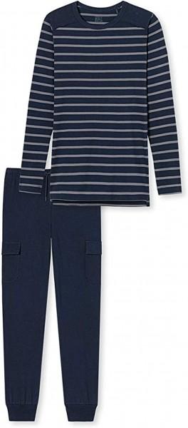 Schiesser Jungen Zweiteiliger Schlafanzug Anzug Lang 171221-804