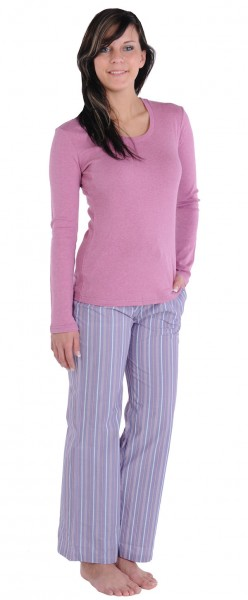Damen Shirt Hemd Langarm 1/1 Mix und Relax Schiesser 118548