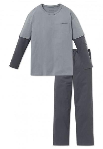 Schiesser Jungen Zweiteiliger Schlafanzug Anzug lang 163224-209