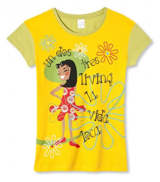 Mädchen Shirt Halbarm 1/2 un dos tres Schiesser 129318