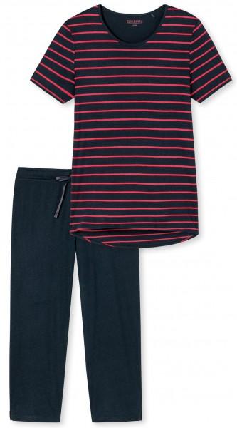 Schiesser Damen Schlafanzug Anzug 3/4, 1/2 Arm
