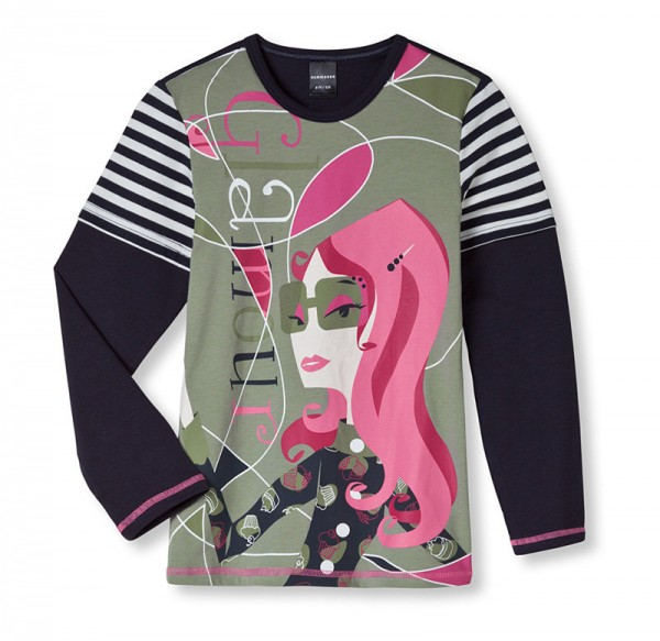 """Mädchen Shirt mit 1/1 Arm """"Glamour"""" Schiesser 131964"""