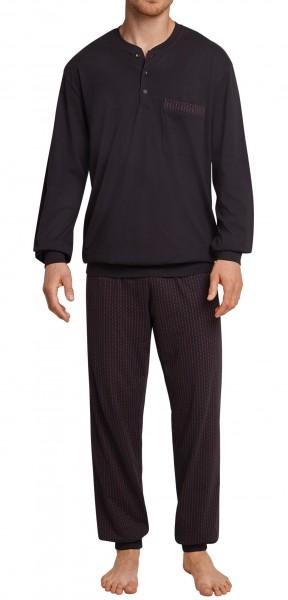Schiesser Herren Zweiteiliger Schlafanzug Anzug Lang