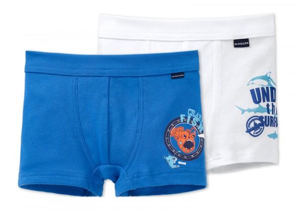 """Jungen Hip-Shorts Doppelpack """"Tiefseetaucher"""" Schiesser 151753"""