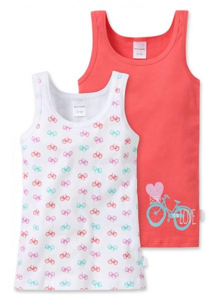 """Mädchen Hemden Doppelpack """"Fahrrad"""" Schiesser 148611"""
