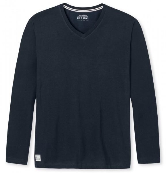 Shirt mit 1/1 Arm V-Ausschnitt Mix und Relax Schiesser 146861