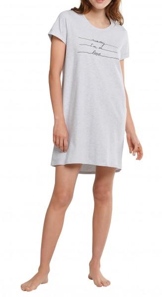 Schiesser Damen Sleepshirt 1/2 Arm Nachthemd grau-meliert 174668-202