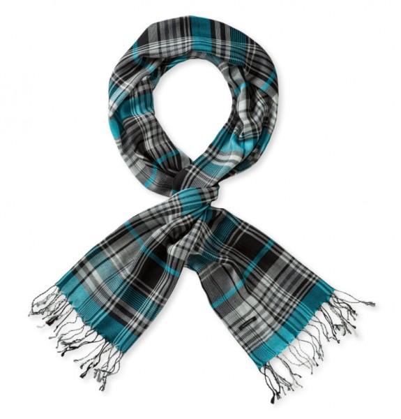 weicher Schal blau Schiesser 139217