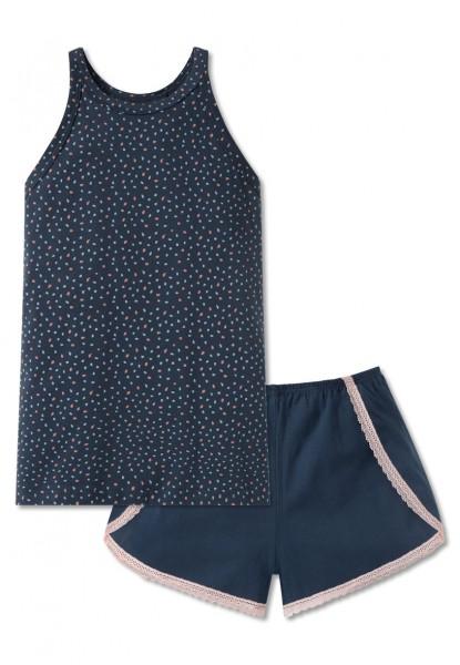 Schiesser Mädchen Zweiteiliger Schlafanzug Anzug kurz 166053-800